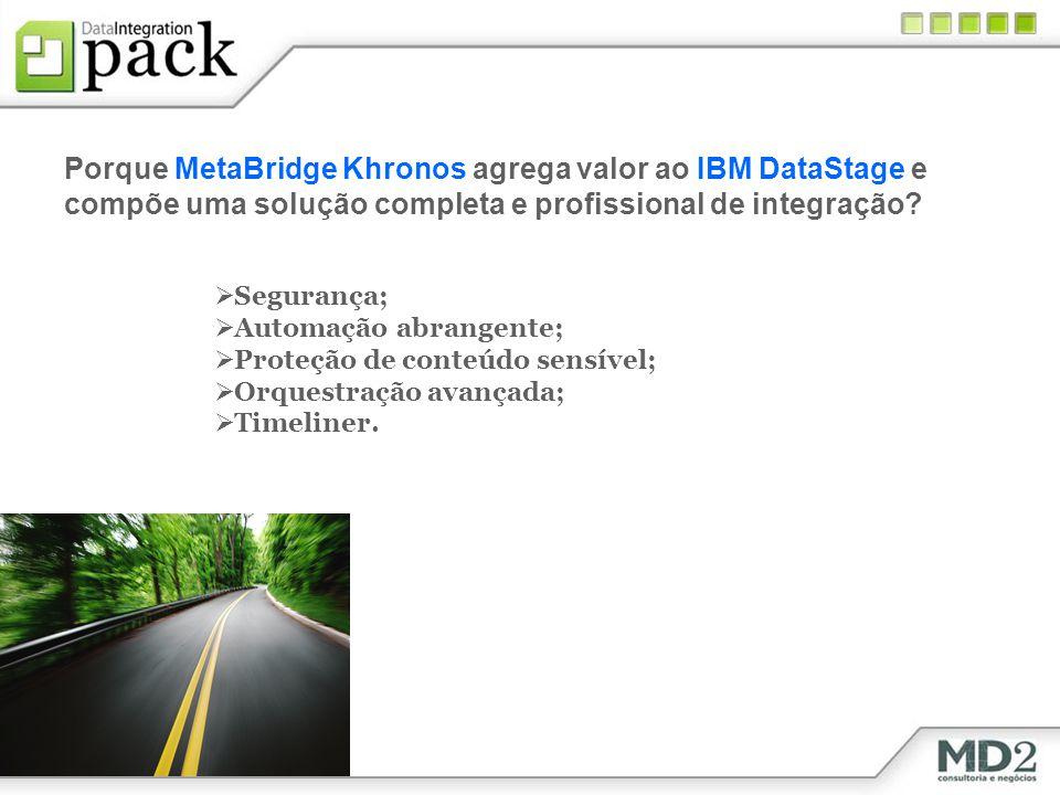 Porque MetaBridge Khronos agrega valor ao IBM DataStage e compõe uma solução completa e profissional de integração