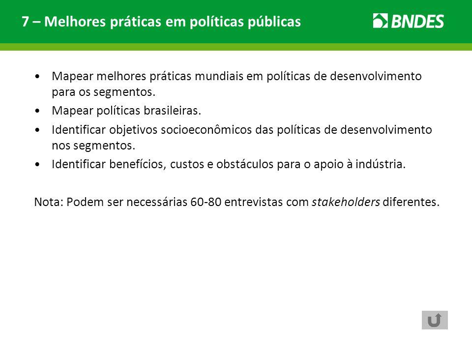 7 – Melhores práticas em políticas públicas