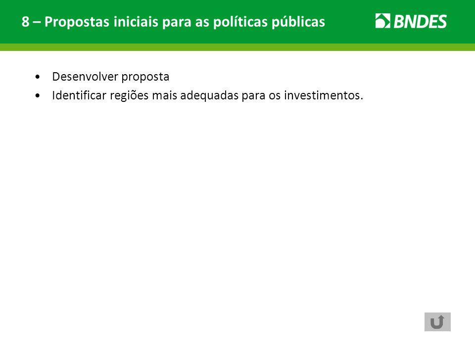 8 – Propostas iniciais para as políticas públicas
