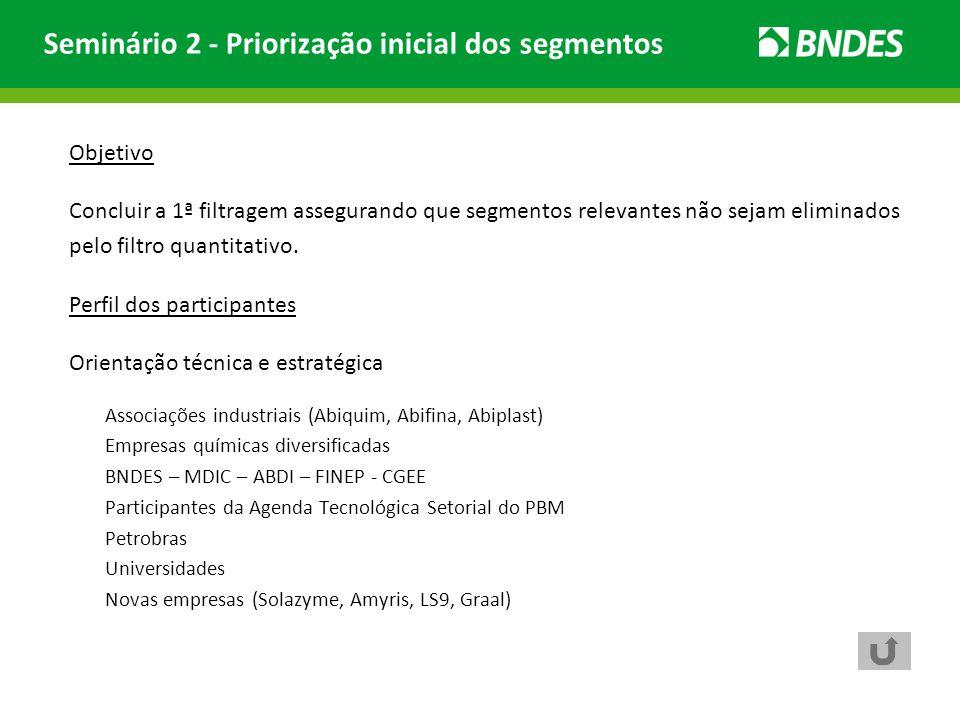Seminário 2 - Priorização inicial dos segmentos