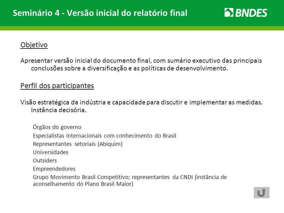 Seminário 4 - Versão inicial do relatório final