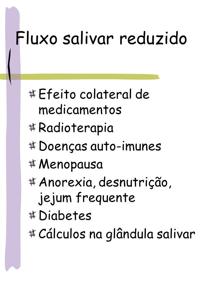 Fluxo salivar reduzido