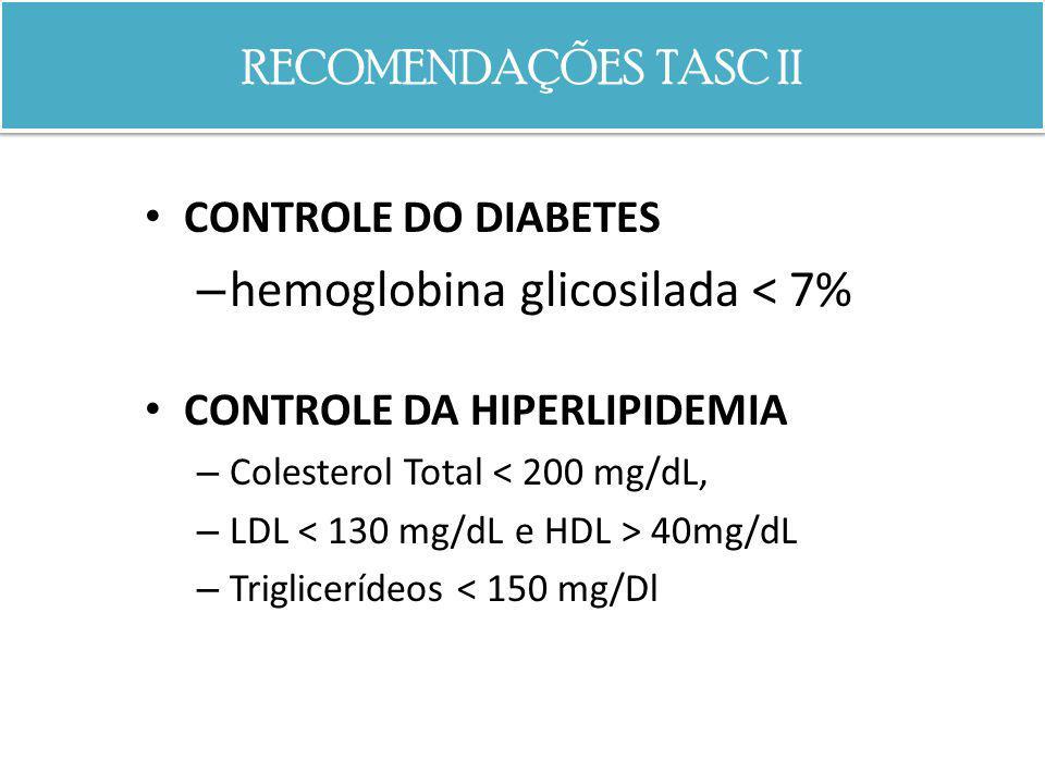 hemoglobina glicosilada < 7%