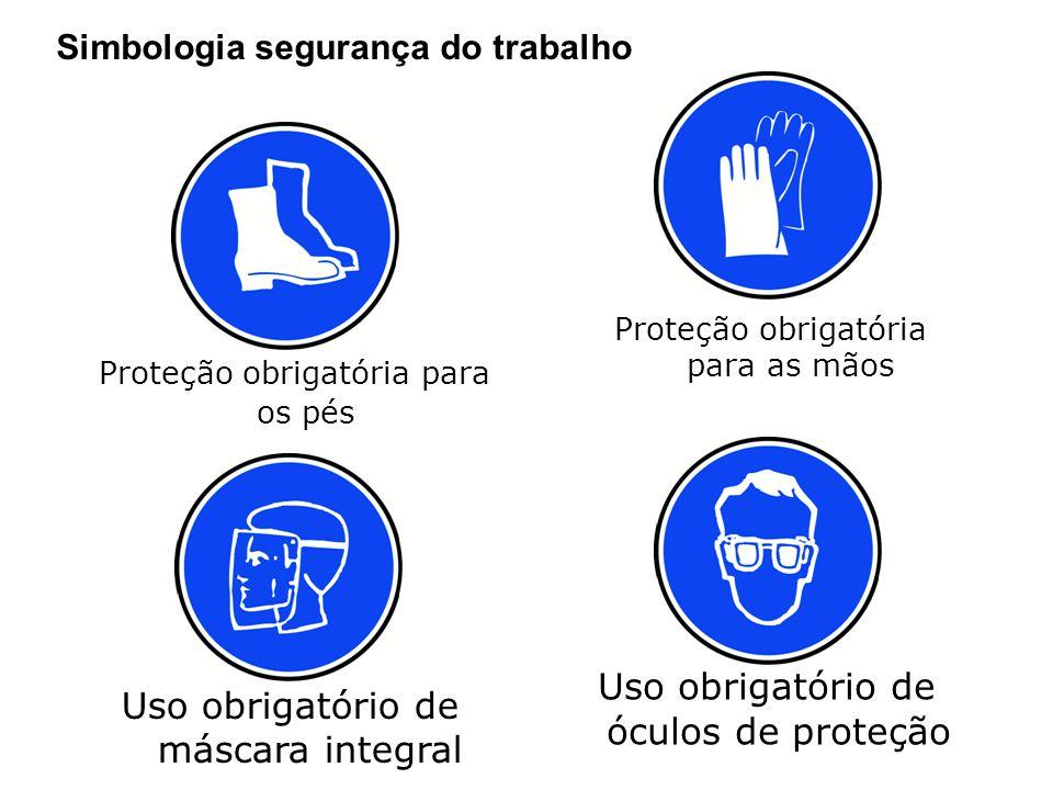 Proteção obrigatória para os pés
