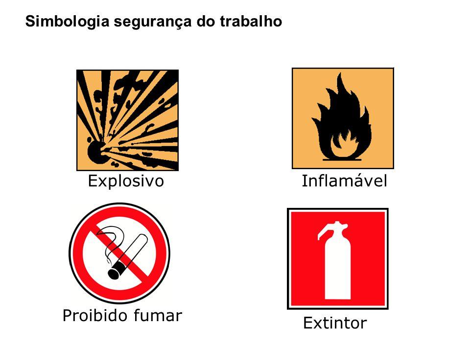 Explosivo Inflamável Proibido fumar Extintor