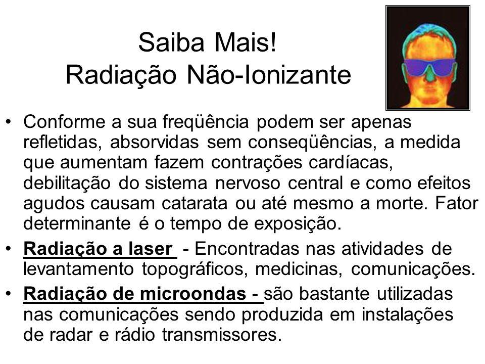 Saiba Mais! Radiação Não-Ionizante