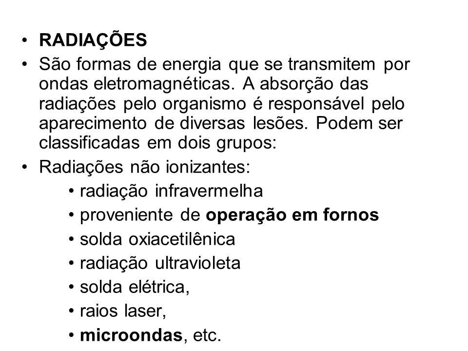 Radiações não ionizantes: radiação infravermelha