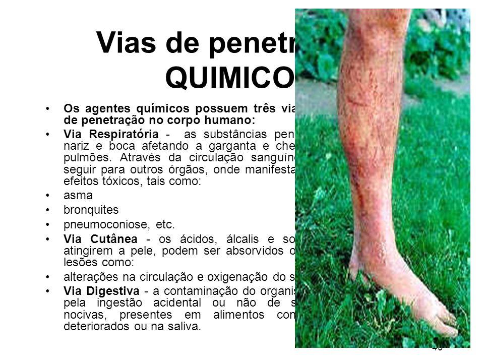 Vias de penetração - QUIMICOS