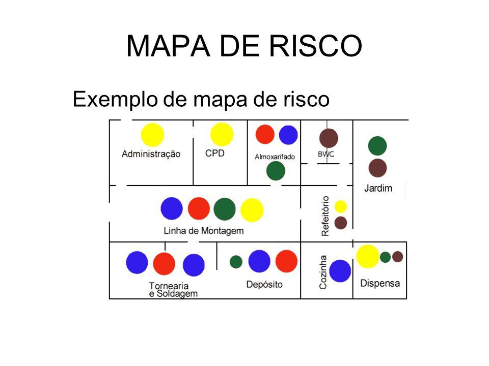 MAPA DE RISCO Exemplo de mapa de risco 73