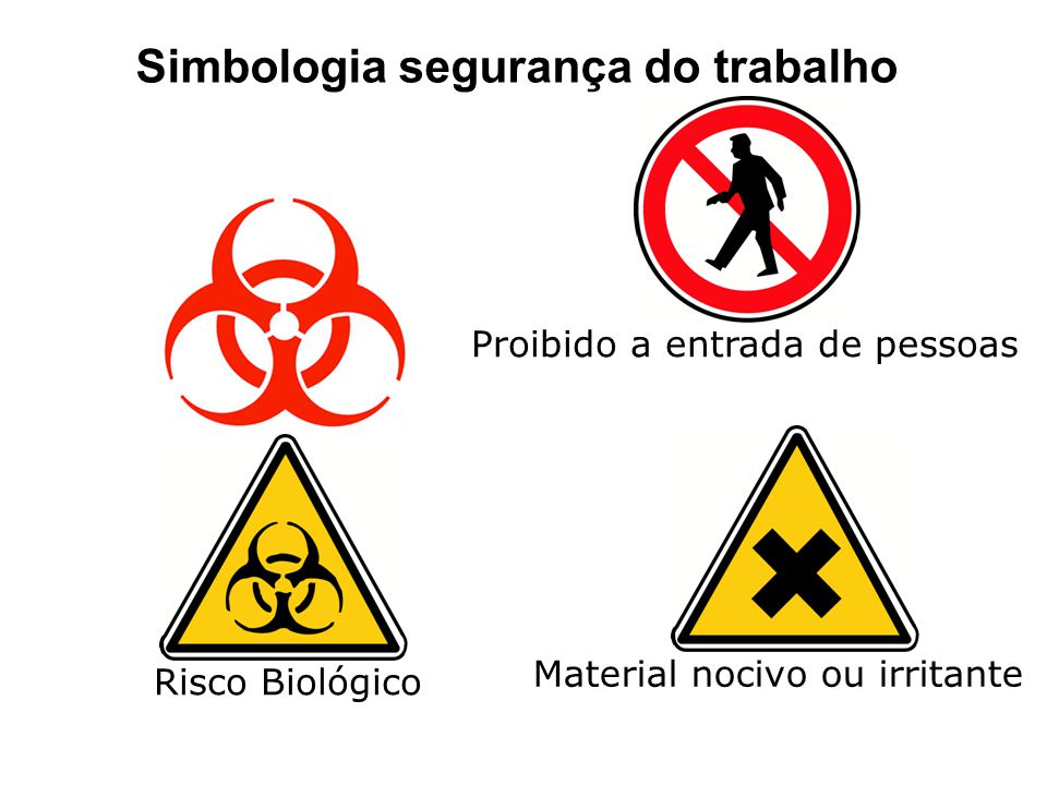 Simbologia segurança do trabalho