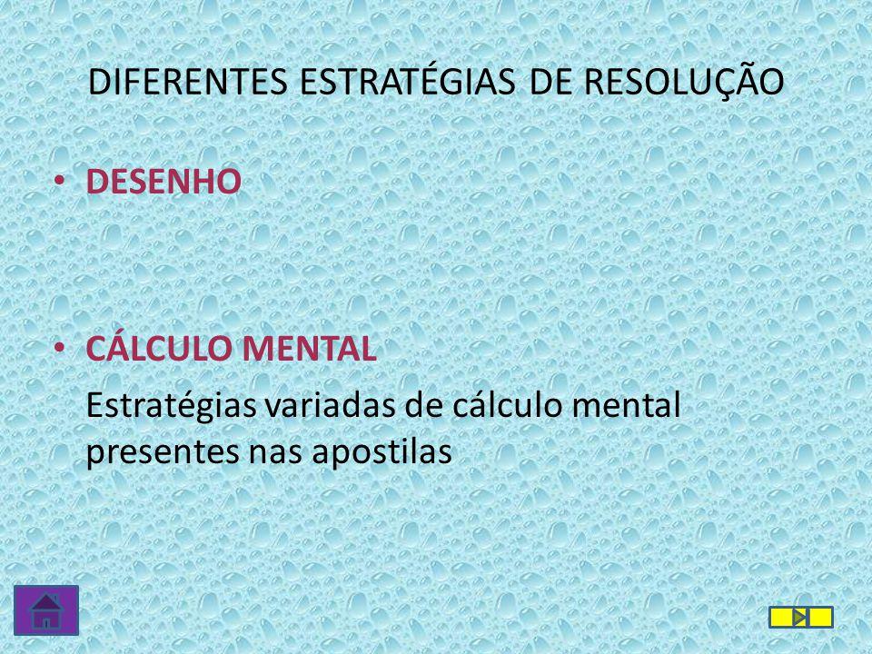 DIFERENTES ESTRATÉGIAS DE RESOLUÇÃO
