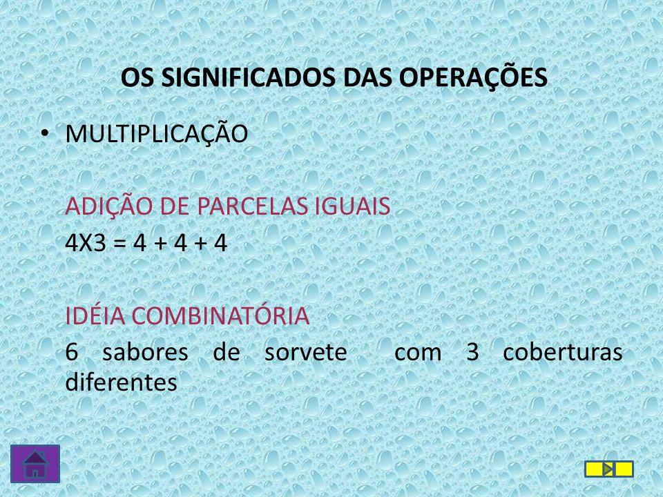 OS SIGNIFICADOS DAS OPERAÇÕES