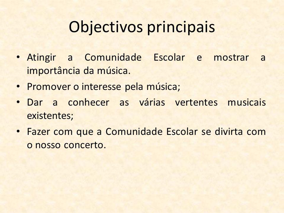 Objectivos principais