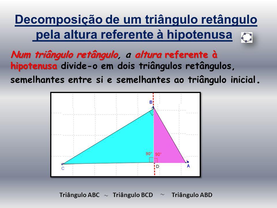 Decomposição de um triângulo retângulo