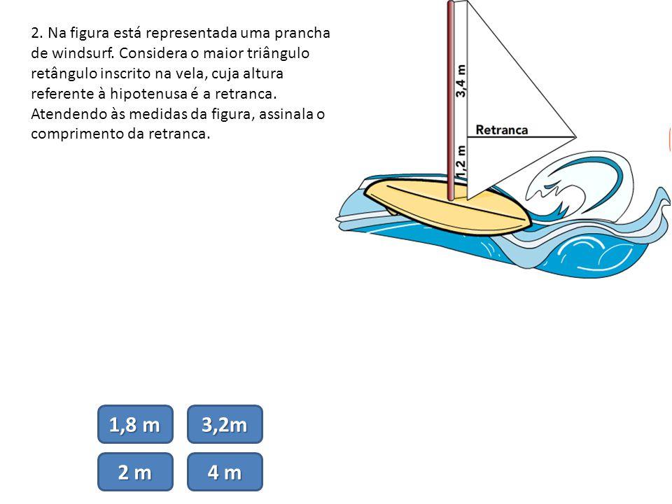 2. Na figura está representada uma prancha de windsurf