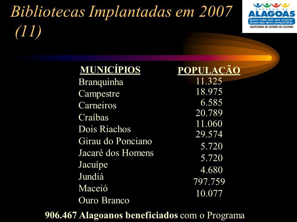 Bibliotecas Implantadas em 2007 (11)