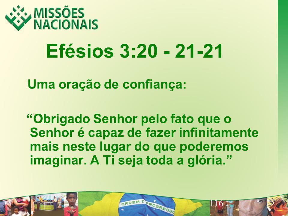 Efésios 3:20 - 21-21 Uma oração de confiança: