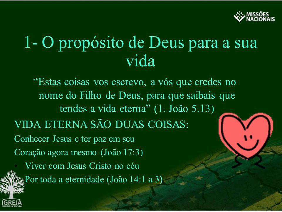 1- O propósito de Deus para a sua vida
