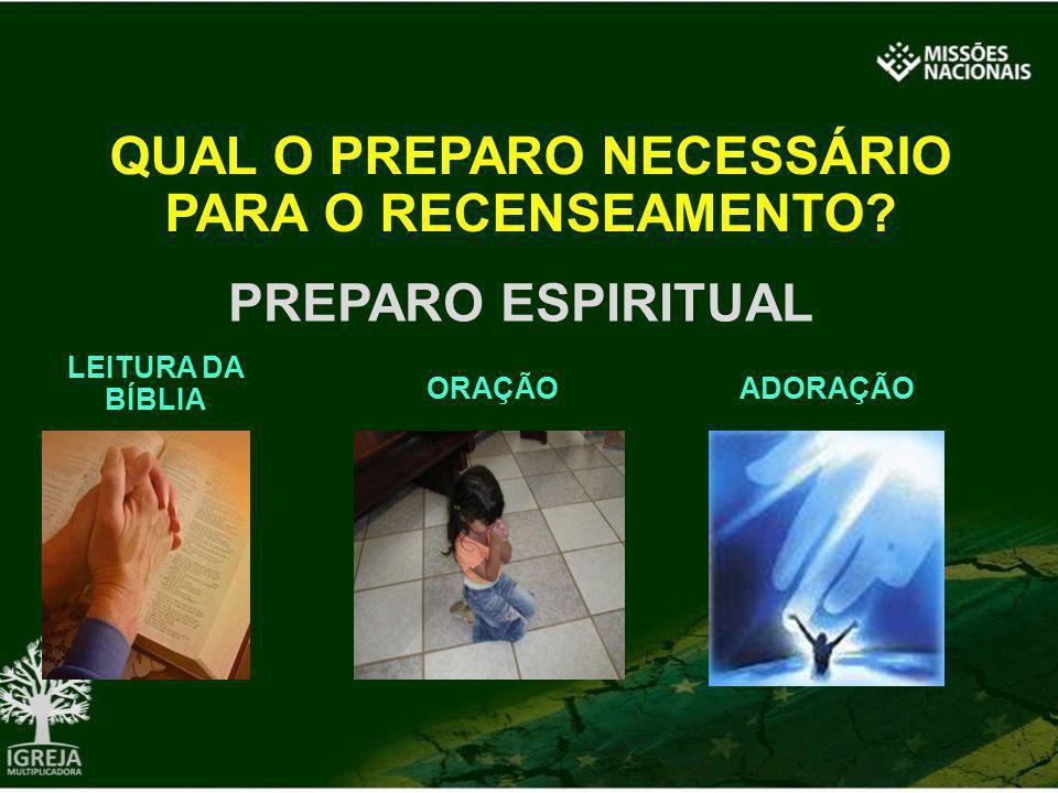 QUAL O PREPARO NECESSÁRIO PARA O RECENSEAMENTO