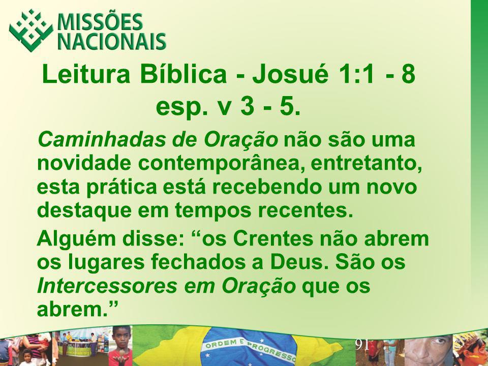 Leitura Bíblica - Josué 1:1 - 8 esp. v 3 - 5.