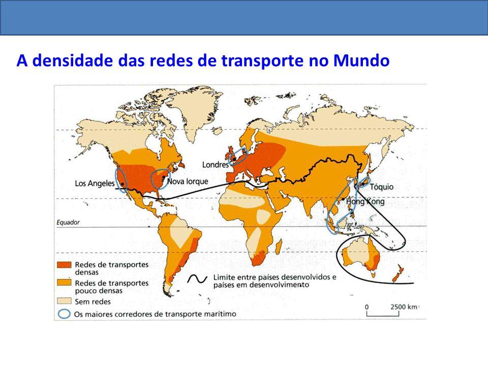 A densidade das redes de transporte no Mundo