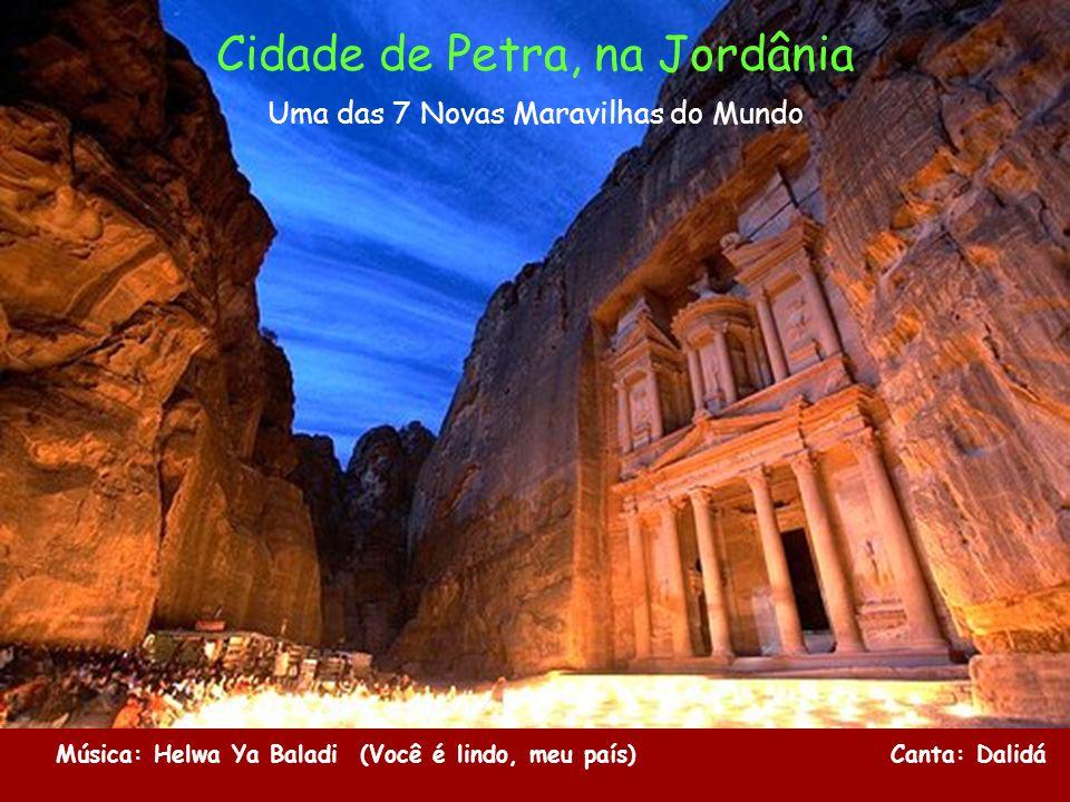 Cidade de Petra, na Jordânia