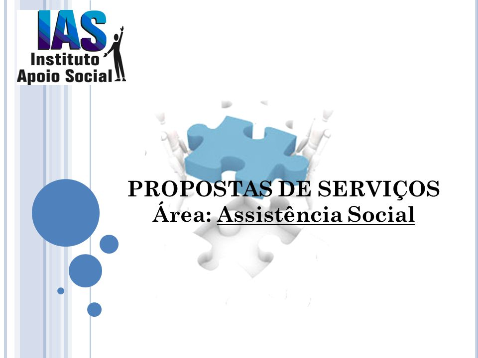 PROPOSTAS DE SERVIÇOS Área: Assistência Social