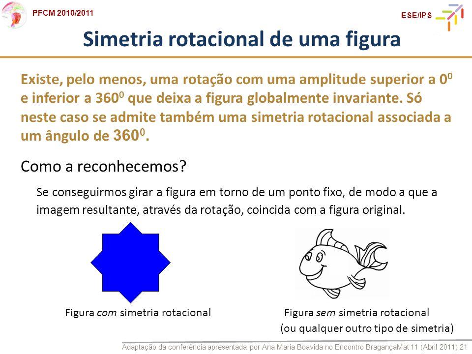 Simetria rotacional de uma figura