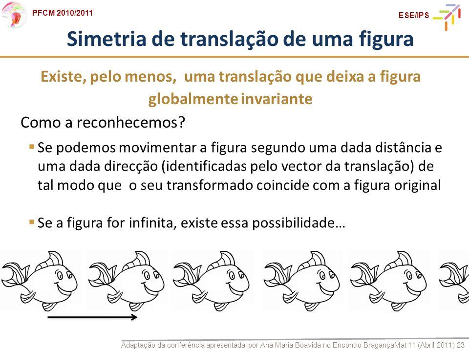 Simetria de translação de uma figura