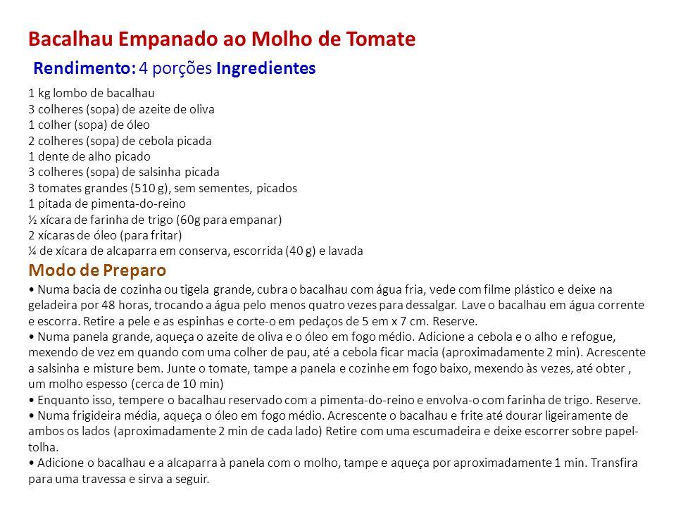 Bacalhau Empanado ao Molho de Tomate