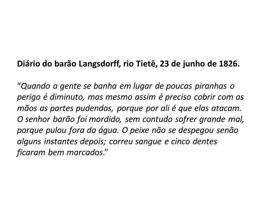 Diário do barão Langsdorff, rio Tietê, 23 de junho de 1826.