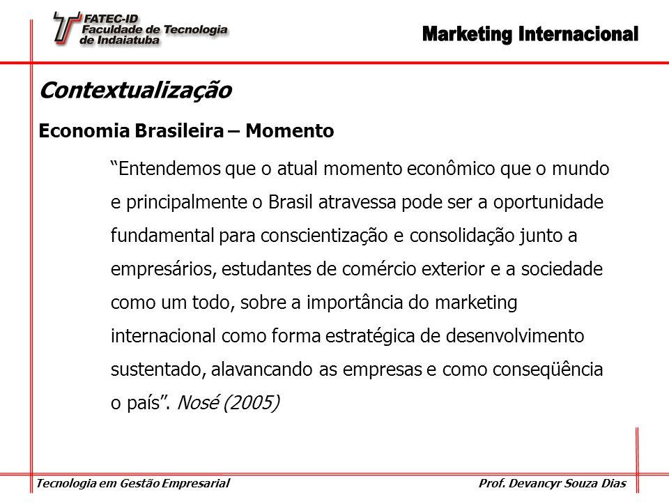 Contextualização Economia Brasileira – Momento