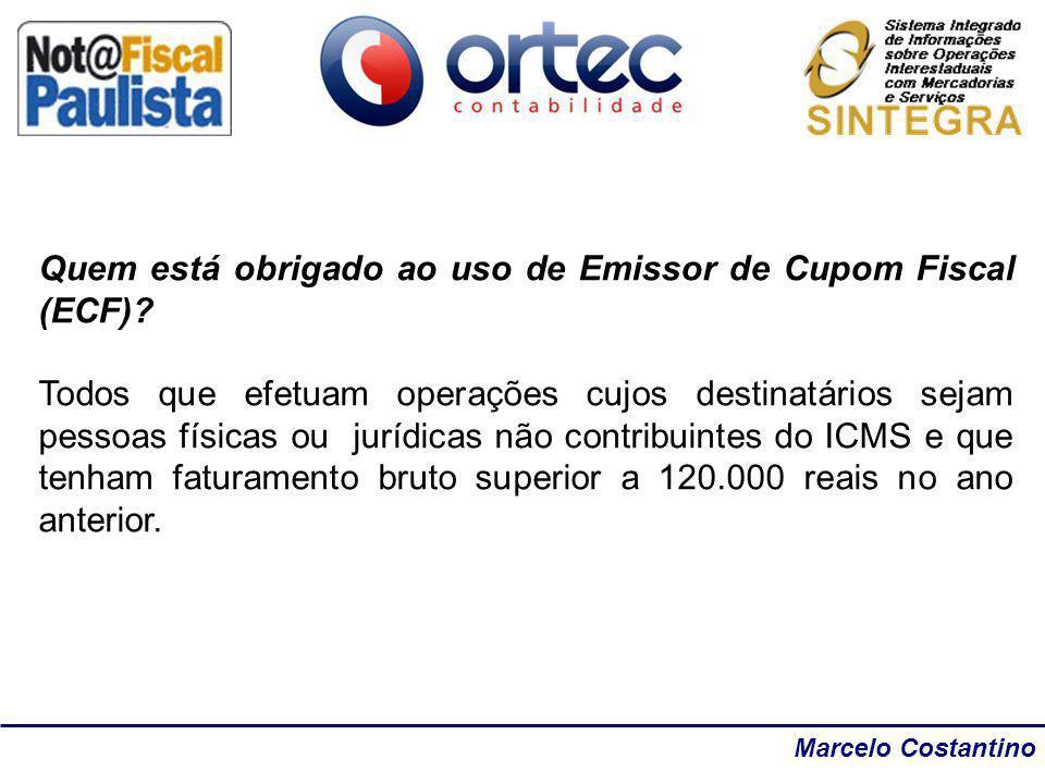 Quem está obrigado ao uso de Emissor de Cupom Fiscal (ECF)