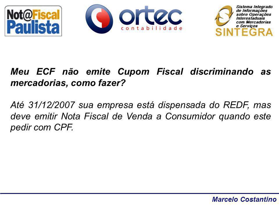 Meu ECF não emite Cupom Fiscal discriminando as mercadorias, como fazer
