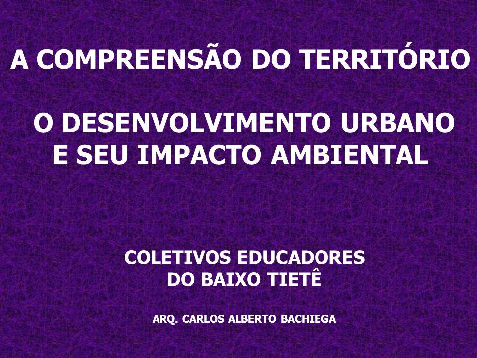 A COMPREENSÃO DO TERRITÓRIO O DESENVOLVIMENTO URBANO