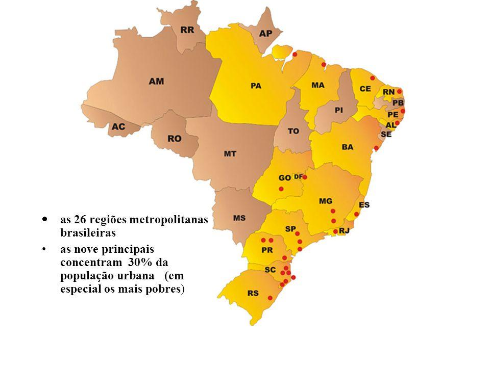 as 26 regiões metropolitanas brasileiras