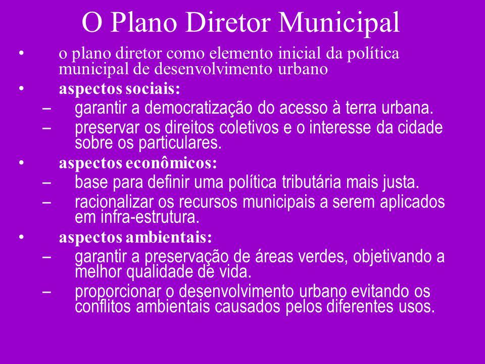 O Plano Diretor Municipal