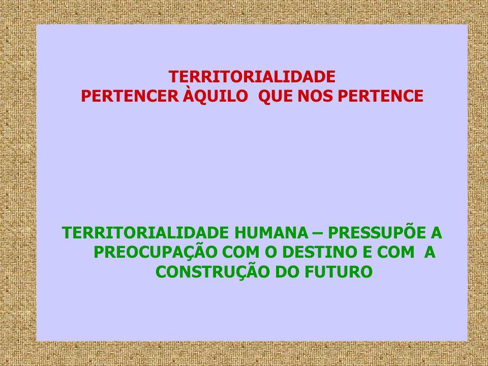 PERTENCER ÀQUILO QUE NOS PERTENCE