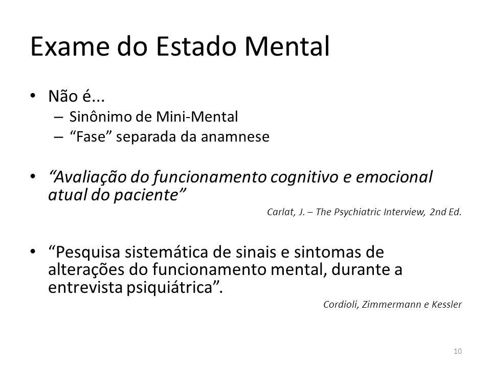Exame do Estado Mental Não é...