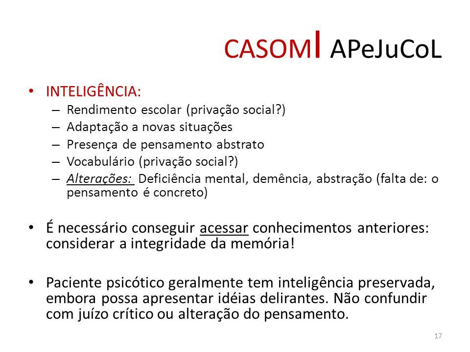 CASOMI APeJuCoL INTELIGÊNCIA: