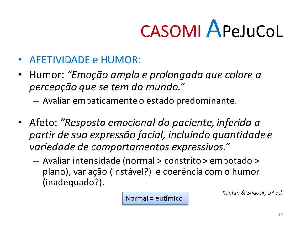 CASOMI APeJuCoL AFETIVIDADE e HUMOR: