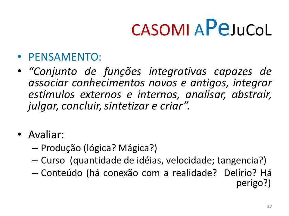 CASOMI APeJuCoL PENSAMENTO: