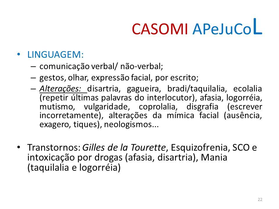 CASOMI APeJuCoL LINGUAGEM: