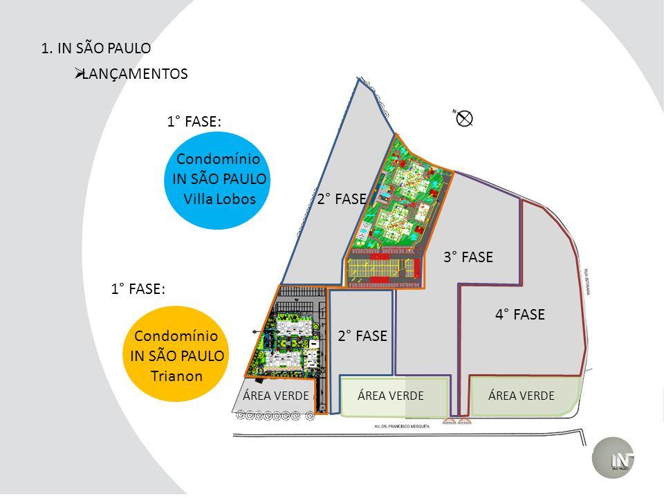 1. IN SÃO PAULO LANÇAMENTOS 1° FASE: Condomínio IN SÃO PAULO
