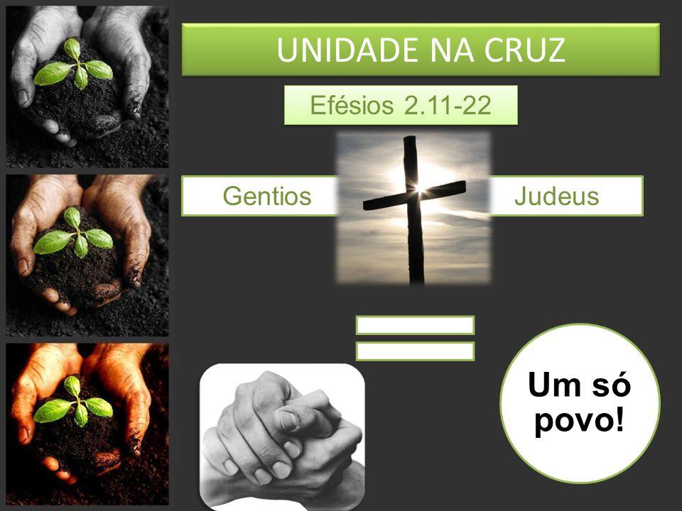 UNIDADE NA CRUZ Efésios 2.11-22 Gentios Judeus Um só povo!