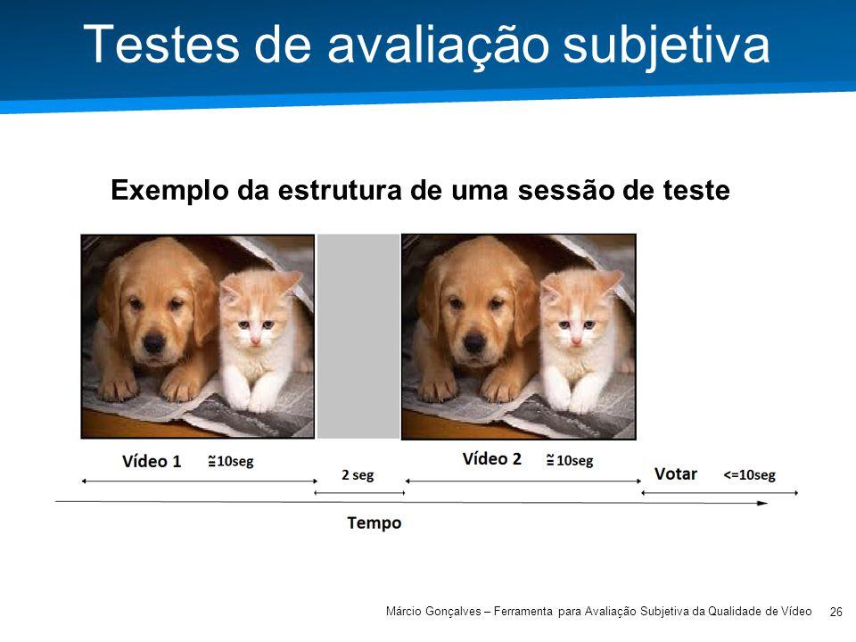 Testes de avaliação subjetiva