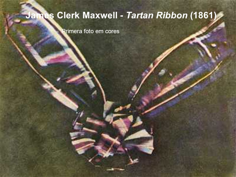 James Clerk Maxwell - Tartan Ribbon (1861)