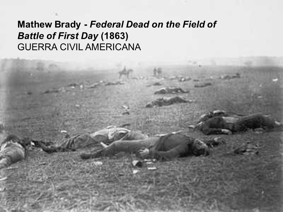 Mathew Brady - Federal Dead on the Field of Battle of First Day (1863)