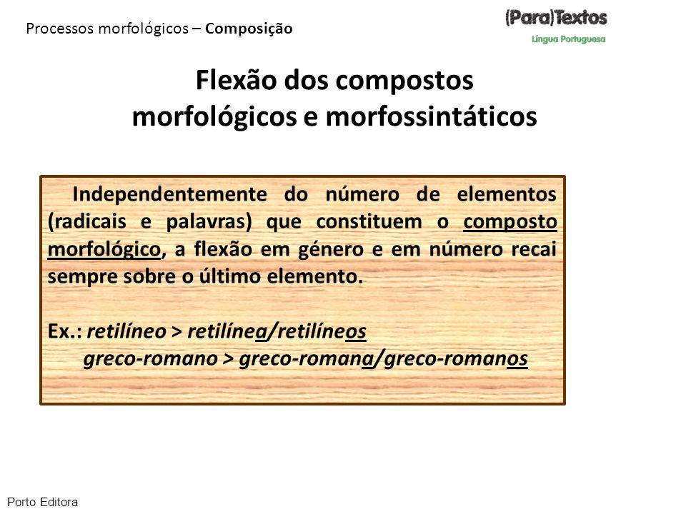 morfológicos e morfossintáticos