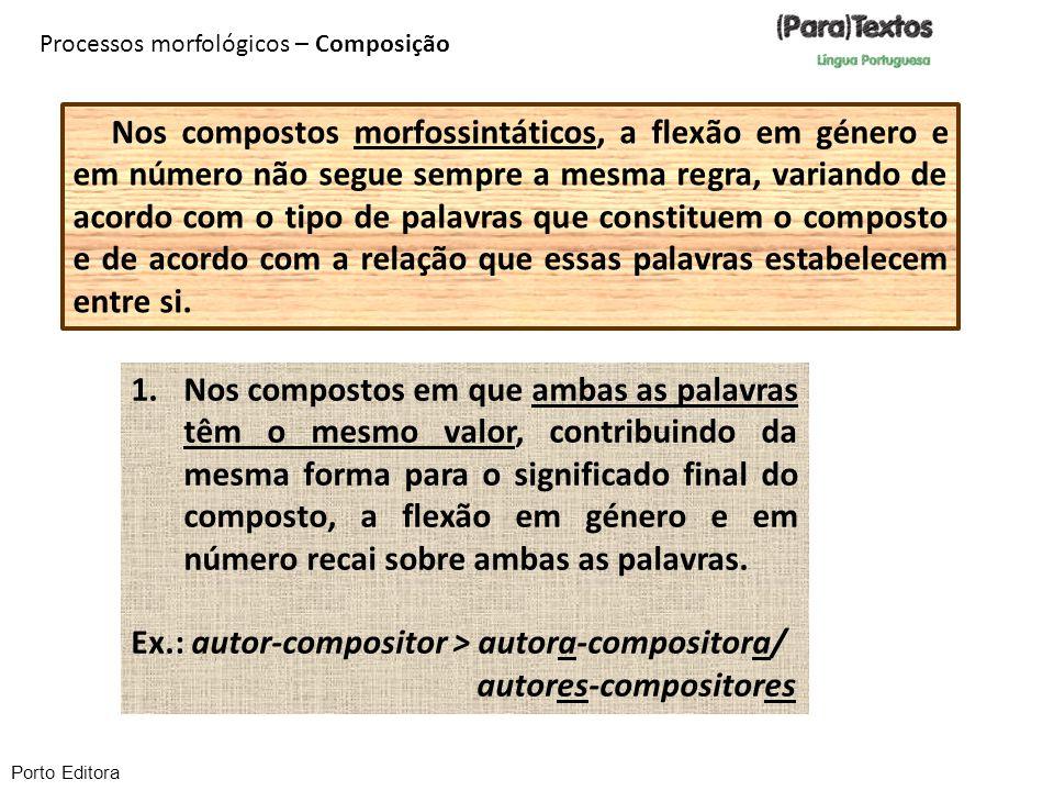 Ex.: autor-compositor > autora-compositora/ autores-compositores